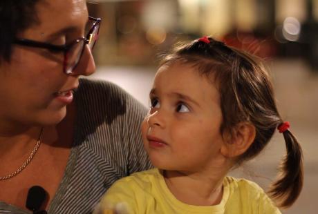 Clelia e la sua piccola Violetta